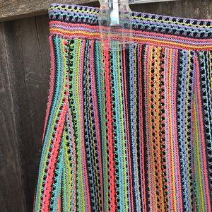 Anthropologie Skirts - ANTHROPOLOGIE Maeve Spectral Stripe Neon Skirt M
